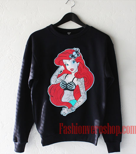 Punk Disney Little Mermaid Ariel Sweatshirt