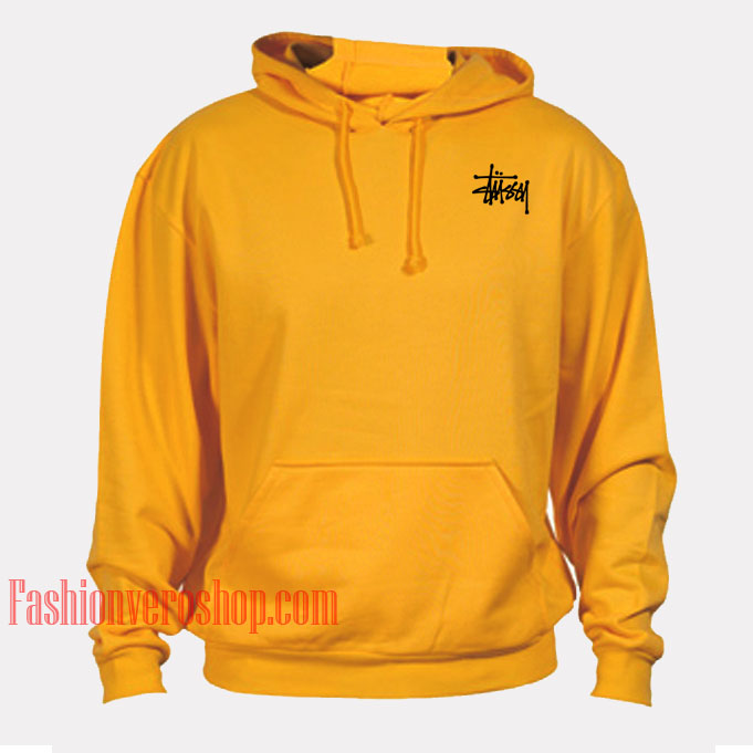 Stussy Yellow Mustard HOODIE - Unisex Adult Clothing