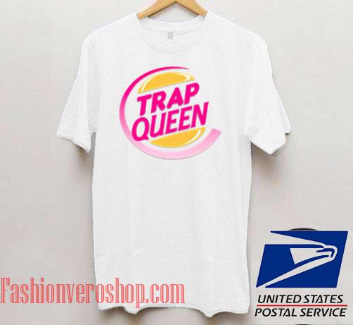 Trap Queen Burger Logo Unisex adult T shirt
