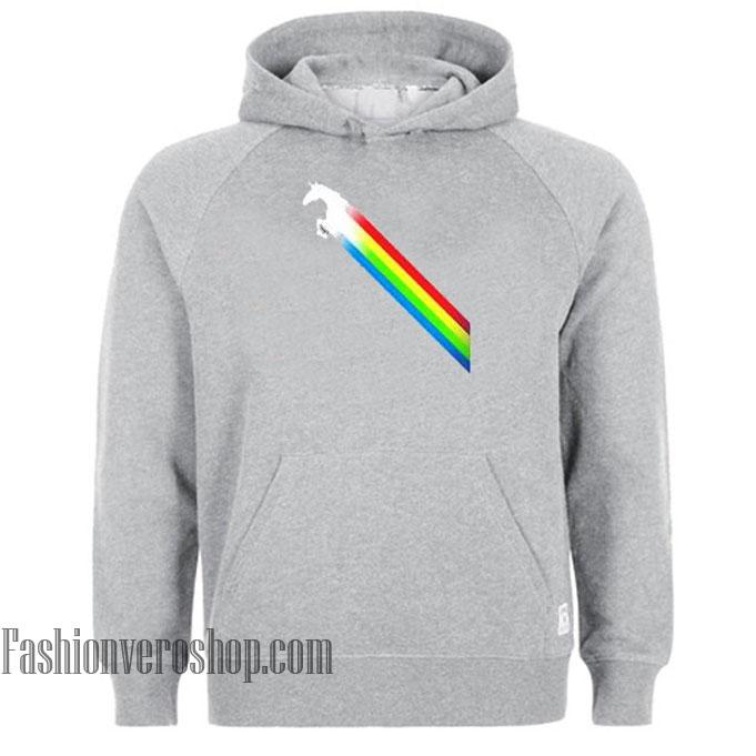 Unicorn Rainbow Cartoon HOODIE - Unisex Adult Clothing