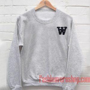 W Black Font Sweatshirt