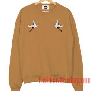 White Crane Sweatshirt
