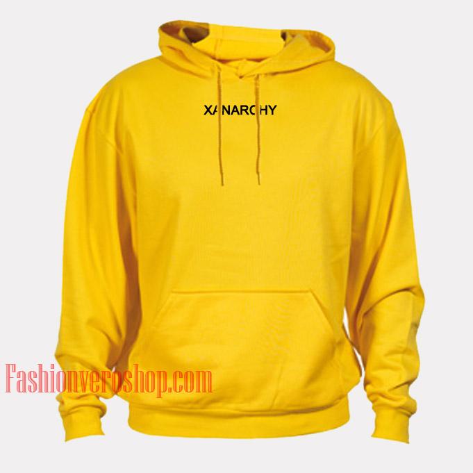 Xanarchy Yellow HOODIE - Unisex Adult Clothing