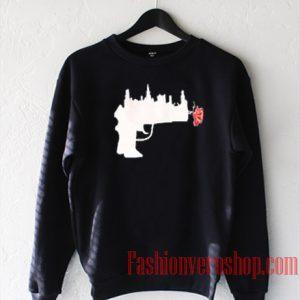 Abstrack Gun Roses Sweatshirt
