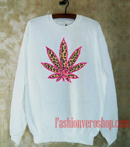 Leopard Cannabis Leaf Sweatshirt