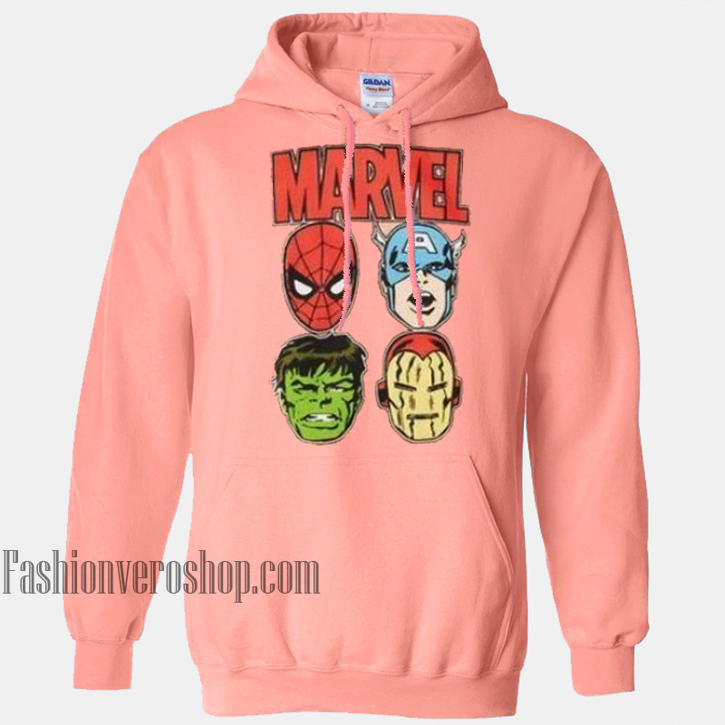 Marvel Pink HOODIE Unisex Adult Clothing