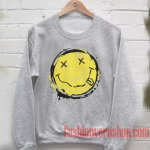 Nirvana's Own Vintage smiley Sweatshirt
