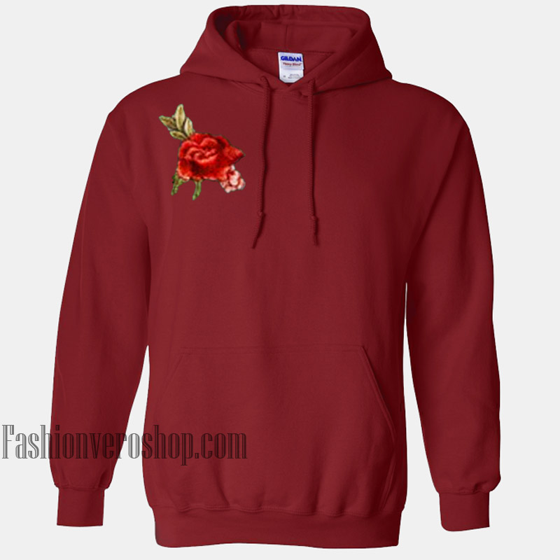 Rose Patch HOODIE - Unisex Adult Clothing