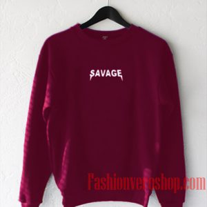 Savage Burgundy Sweatshirt