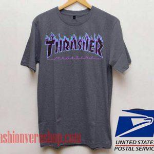 Thrasher Magazine Blue Flame Unisex adult T shirt