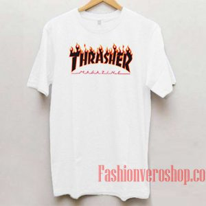 Thrasher Red Flame Unisex adult T shirt