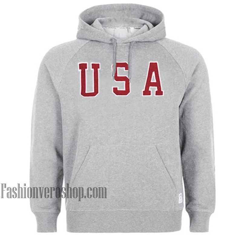 USA Grey HOODIE - Unisex Adult Clothing