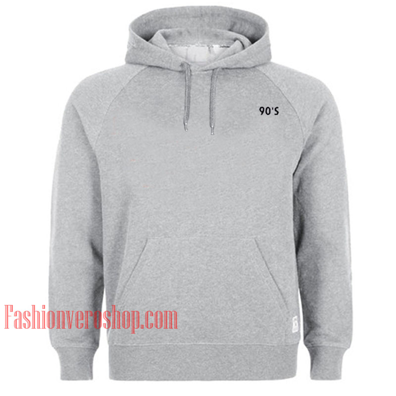 90's Grey HOODIE - Unisex Adult Clothing