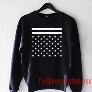 American Flag Black And White Sweatshirt