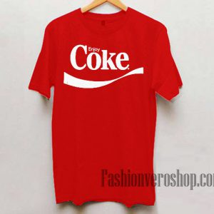 Enjoy Coke Unisex adult T shirt