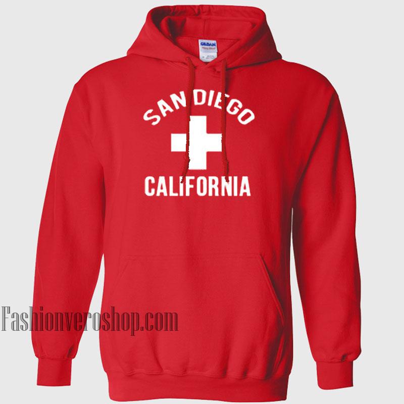 San Diego California HOODIE - Unisex Adult Clothing