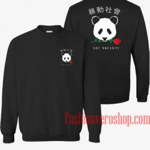 The Riot Society Panda Rose Sweatshirt