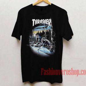 Thrasher Wolf Unisex adult T shirt