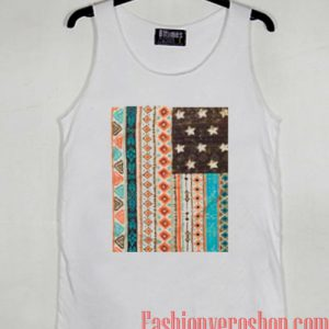 Tribal Print American Flag Tank top