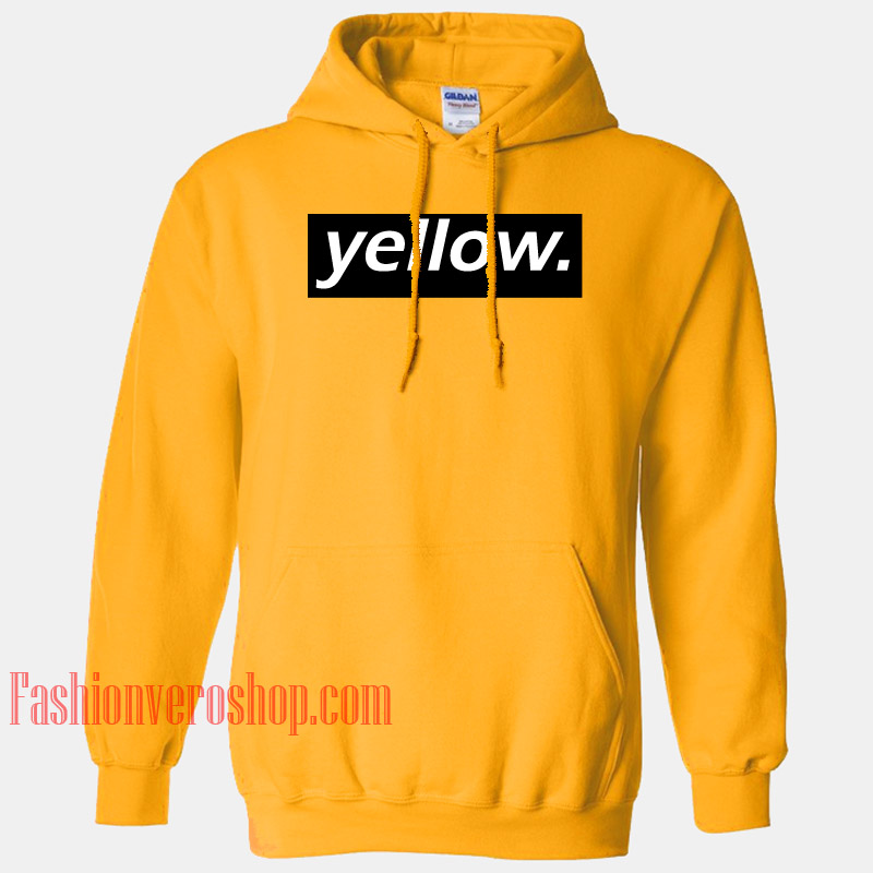 Yellow Letter Gold Yellow HOODIE - Unisex Adult Clothing