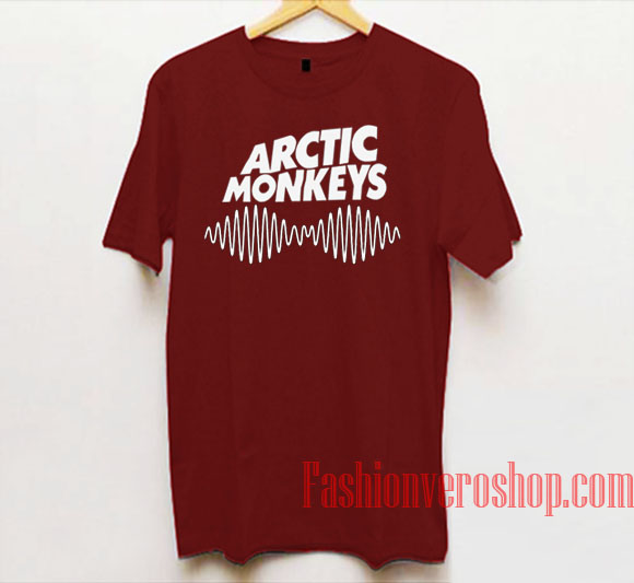 Arctic Monkeys Logo Maroon Unisex adult T shirt