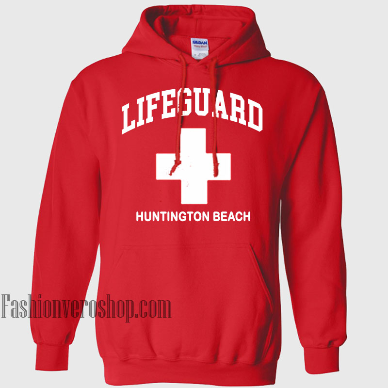 6ad701651ee0 Lifeguard Huntington Beach HOODIE - Unisex Adult Clothing