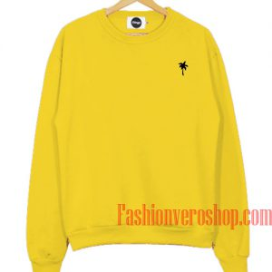 Palm Tree Yellow Sweatshirt