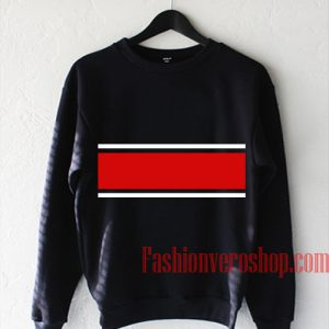 Red And White Line Sweatshirt
