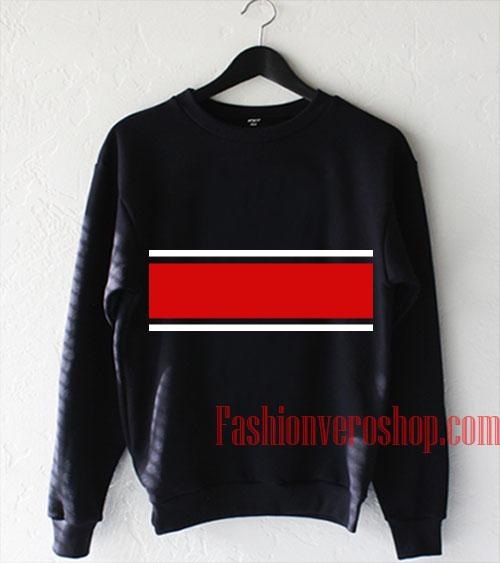 Red And White Line Sweatshirt