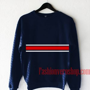 Red and White Stripe Sweatshirt
