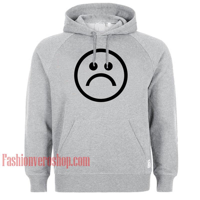 Sad Face Symbol HOODIE - Unisex Adult Clothing