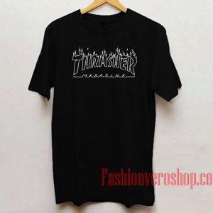 Thrasher Flame Outline Unisex adult T shirt