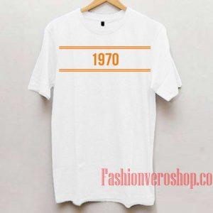 1970 Unisex adult T shirt