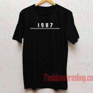1987 Unisex adult T shirt