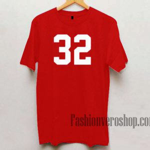 32 Number Unisex adult T shirt