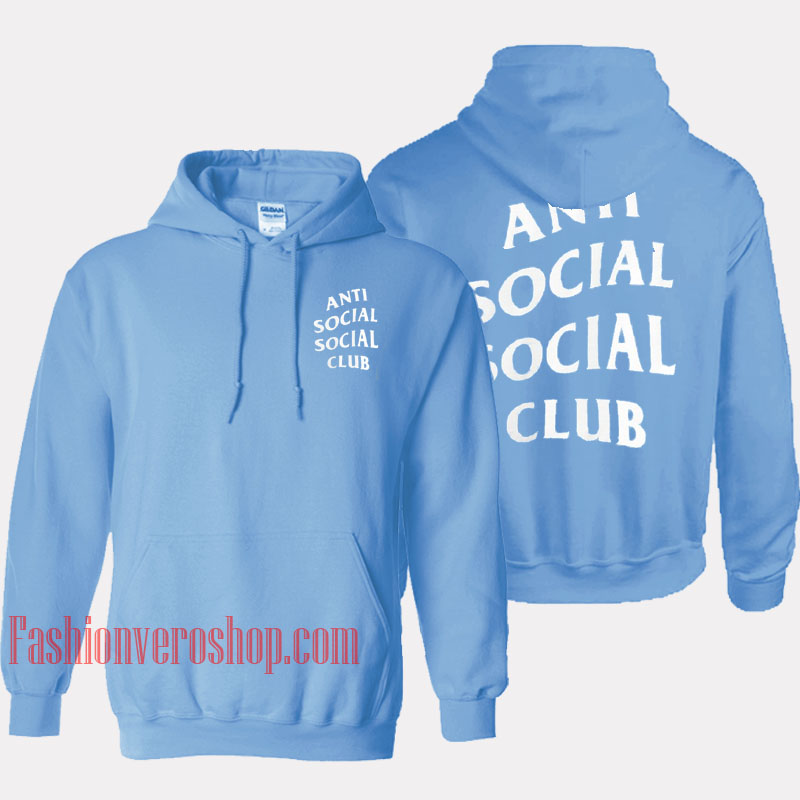 3344083f67b9 Anti Social Social Club Light Blue HOODIE - Unisex Adult Clothing