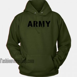 Army Letter HOODIE - Unisex Adult Clothing