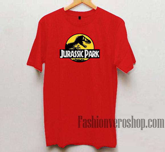 476aa93a Jurassic Park Logo Red Unisex adult T shirt