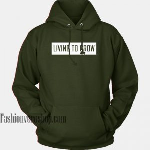 Living To Grow Green Army HOODIE Unisex Adult Clothing