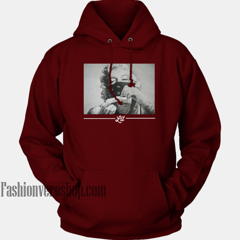 6c86f1580 Clothing Monroe Maroon Hoodie – Marilyn Adult Lit Unisex E0dSfq6