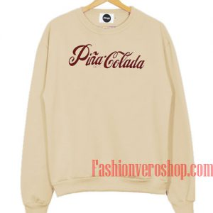 Pina Colada Cream Color Sweatshirt