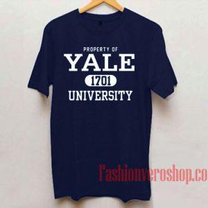 Property Of Yale 1701 University Unisex adult T shirt