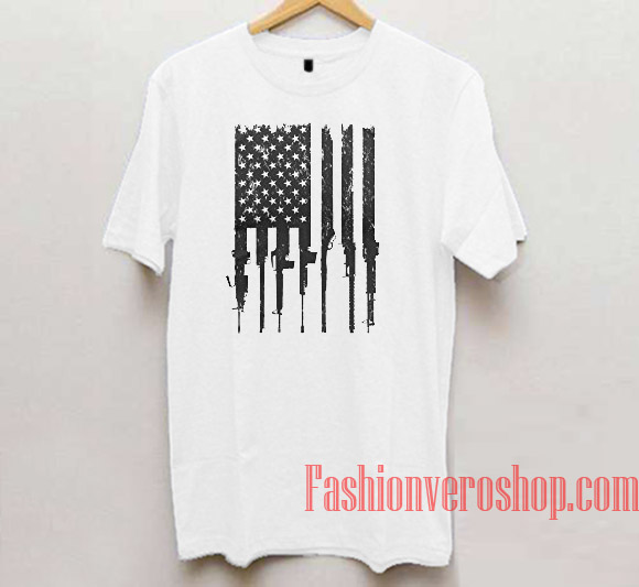 Rifle Flag Unisex adult T shirt