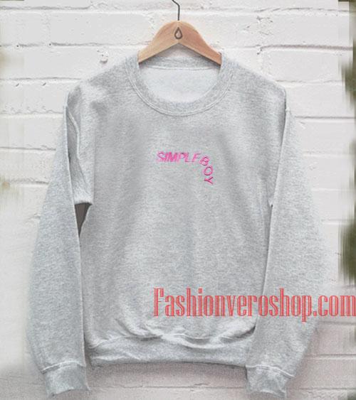 Simpleboy Grey Sweatshirt
