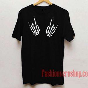 Skeleton Metal Hand Unisex adult T shirt