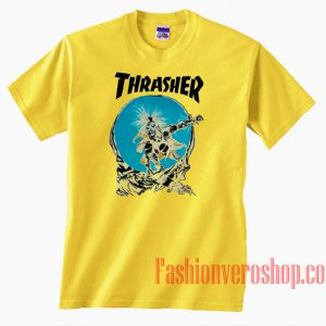 Thrasher Outlaw Yellow Unisex adult T shirt
