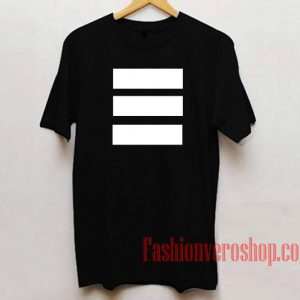 Three Horizontal White Lines Unisex adult T shirt