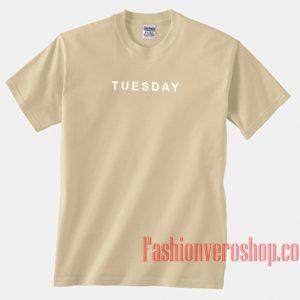 Tuesday Font Cream Unisex adult T shirt