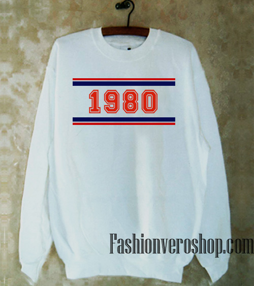 1980 Striped sweatshirt