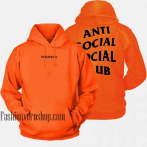 Anti Social Social Club Undefeated Paranoid HOODIE - Unisex Adult Clothing
